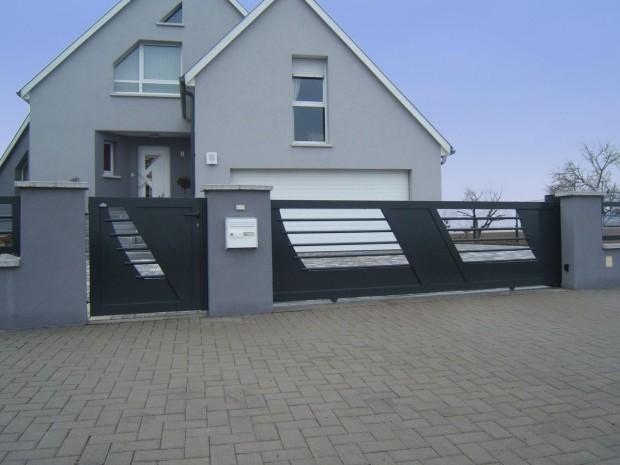 Quel portail choisir pour votre maison le bricomag - Portail maison moderne ...