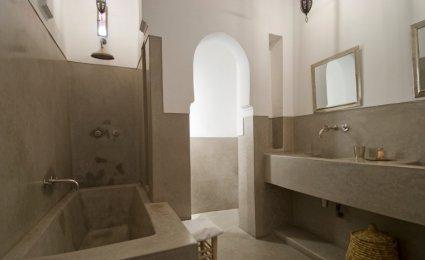 Peinture chaux salle de bain
