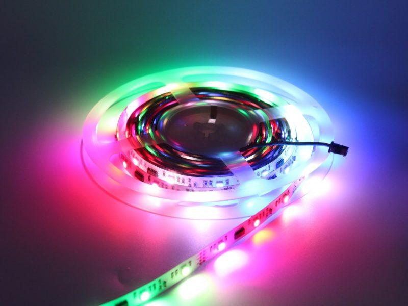décoration à réaliser avec des rubans LED