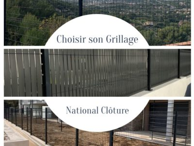 clôture en panneau rigide