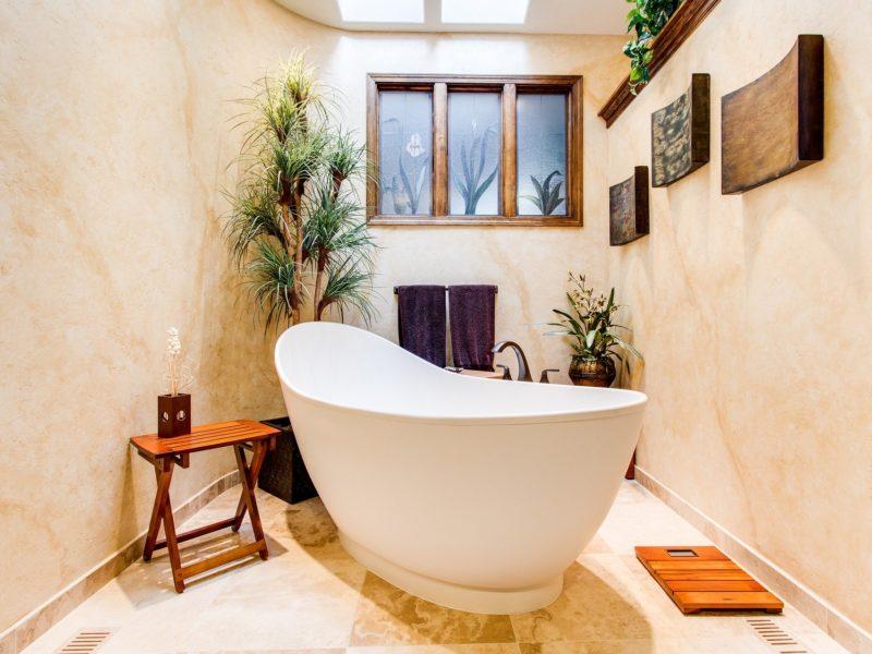 salle de bains avec le style minimaliste