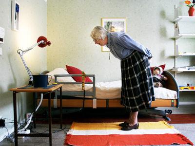 chambre d'une personne âgée