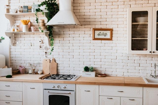 décoration végétale en cuisine moderne